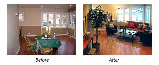 Home Staging: before and after